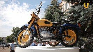 """Новости UTV. Торжественное открытие постамента """"Мотоцикл""""."""