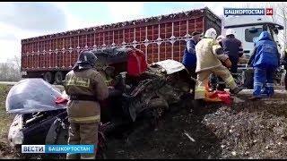 Появилось видео с места смертельного ДТП в Башкирии