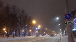 уфа башкирия россия снегопад с ветром буря шторм весна 4 марта 2021Russia snowfall with wind storm