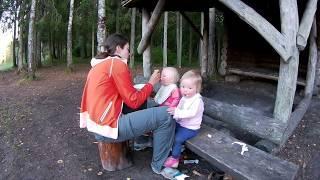 На велосипеде с двойней. Велопоход с двумя детьми. 8 День. Выру - Озеро Одри.