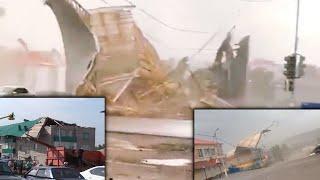 СРОЧНО  !!!  Смертоносный  ураган  СОРВАЛ  крыши  многоэтажек  в  Башкирии