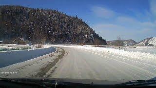 Дорога в санаторий Ассы глазами автомобильного видеорегистратора