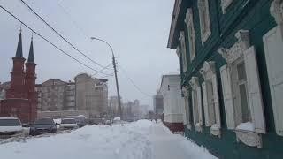 уфа башкирия россия сильный снегопад с ветром 4 марта 2021 весна snow weather storm snowfall  Russia