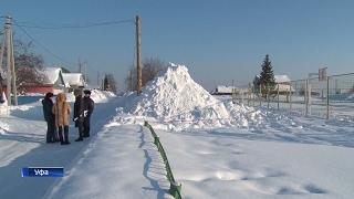 В Уфе под снежным обвалом погиб 11-летний ребенок