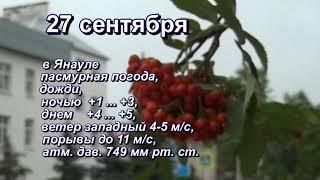 Прогноз погоды на 27 сентября 2019 г.Янаул