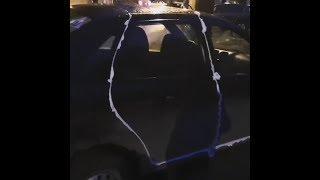 В Стерлитамаке машину залепили монтажной пеной | Ufa1.RU