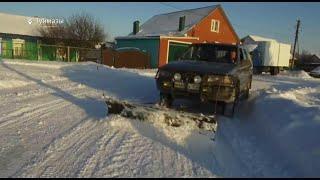 В Башкирии изобретатель собрал внедорожник для уборки снега