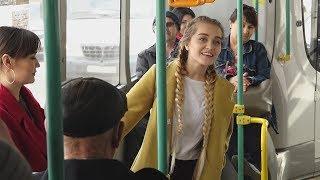 UTV. В Уфе юные актеры читали стихи в общественном транспорте