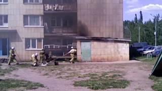 Пожар в г.Октябрьский РБ
