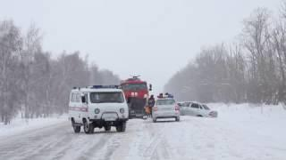 ДТП На трассе Давлеканово-Раевка. СЕГОДНЯ!!! 11.01.2017 г.