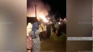 В поселке Тимашево произошел крупный пожар