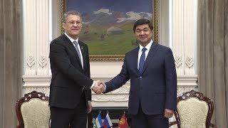 Радий Хабиров встретился с Премьер-министром Киргизии Мухаммедкалыем Абылгазиевым
