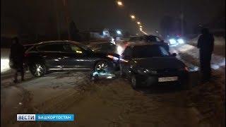 ДТП на выезде из Уфы стало причиной большой пробки