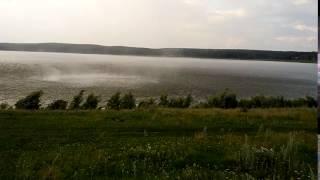 Смерч над озером Ургун в Учалинском районе