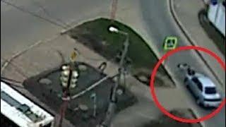 Наезд на велосипедиста-школьника в Башкирии попал на видео: водитель скрылся