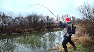 Клюнул какой-то ВЕЛИКАН! | Большие рыбы - Новой реки | Рыбалка с сыном на спиннинг