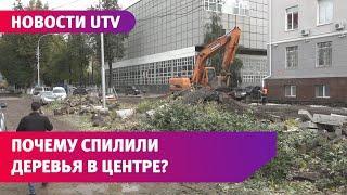На улице Советской в Уфе вырубили деревья. Активисты бьют тревогу, а жители довольны