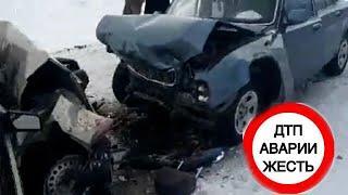 В Челябинской области во время метели лоб в лоб столкнулись две легковушки