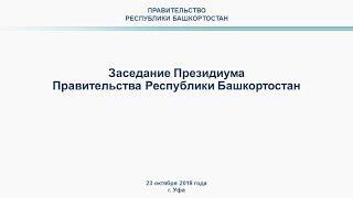 Президиум Правительства Башкортостана: прямая трансляция 23 октября 2018 г.