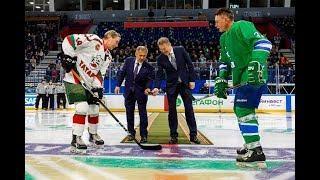 На «Уфа-Арене» прошел товарищеский матч между ветеранами «Салавата Юлаева» и «Ак Барса»