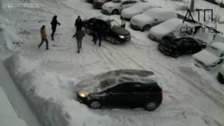 Драка на парковке в Уфе