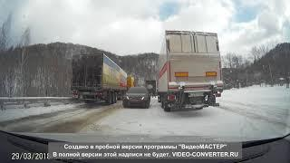 Дорога Уфа-Белорецк,затор на зильме(а)рдаке 29.03.18