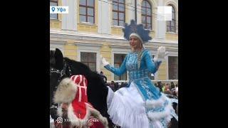 Тригубчак возглавила парад снегурочек | Ufa1.RU