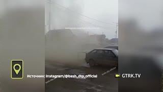 «Буря в пустыне»: в Башкирии с помощью щеток чистят улицу от пыли