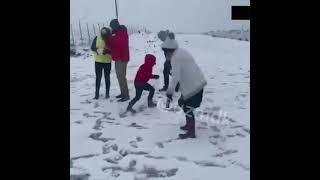 В Африке выпал снег впервые за несколько лет. В некоторых городах сейчас до -9 мороза.