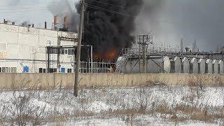 Пожар на заводе в Мелеузе