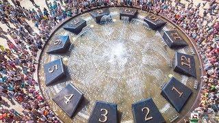 В День города в Уфе открыли долгожданный фонтан-часы