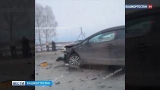 «Не пропустил на повороте»: двое пострадали в жесткой аварии под Уфой