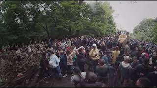 15 августа - Оборона на баррикадах от БСК у горы Куштау. Отрывок видео в режиме 360 градусов.