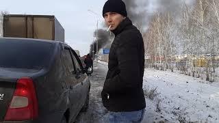 Сгорела машина Туймазы 22.12.2018