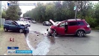 В Уфе столкнулись две машины: водитель погиб, еще трое пострадали