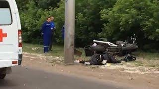 Врезался в столб: в Уфе насмерть разбился мотоциклист