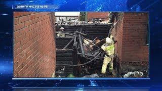 Крупный пожар в Уфе унес жизнь пенсионера и разрушил три постройки