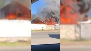 ЧП на Банном: крупный пожар уничтожил несколько построек