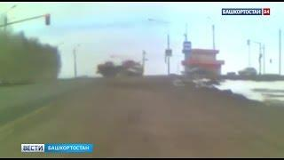 Момент тройного ДТП в Башкирии, в котором погибли телята, попал на видео
