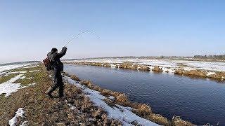 РЕКА В ПОЛЕ КИШИТ ЩУКОЙ!!! Рыбалка на щуку 2019! Ловля щуки весной на спиннинг на реке на джиг