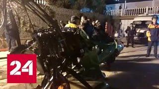 Упавший вертолет вытащили из Клязьминского водохранилища - Россия 24