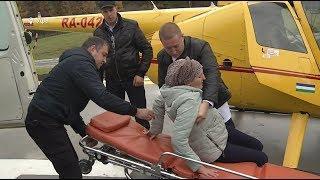 В Башкирии впервые пациента доставили в больницу на вертолете