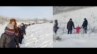 В Башкирии эко активисты окружили шихан Куштау «живой изгородью»