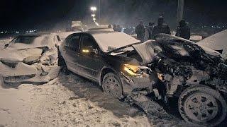 Подборка аварий зимой дтп зимой самое страшное