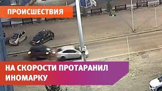 В Уфе пьяный водитель на полном ходу влетел в иномарку