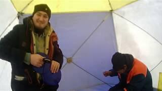 Зимняя рыбалка на реке Сим, Уфа. Башкортостан.