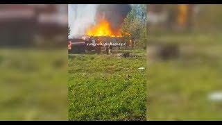 В Улу-Теляке сгорел заброшенный дом