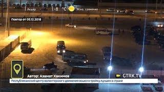 В Уфе водители автобусов устроили дрифт на парковке