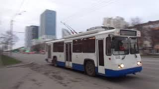 russia trolleybus уфа башкирия троллейбус 1 мая 2021 проспект октября театр кукол вечер бульвар слав