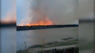В Башкирии горит трава